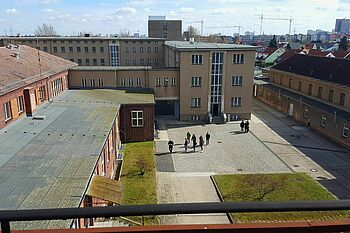 Courtyard of the former Stasi prison in Berlin