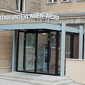 Entrance to the Stasi Records Archive in Berlin